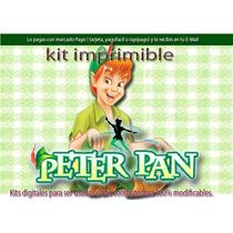 Kit Imprimible Candy Bar Peter Pan Tarjetas Cotillón Cajas