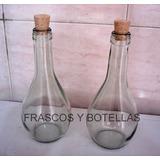 Botellas De Vidrio Chianti 375 Cc Con Corcho X 10