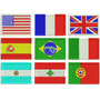 Patch Bordado Termocolante - Bandeiras Todos Países 7x4,5cm
