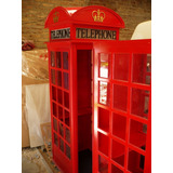 Cabina Telefonica Inglesa Telephone 0,85 X0,85 X 225 Con Luz