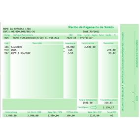 Holerite De Pagamento Contra Cheque - Colorido - Recibo