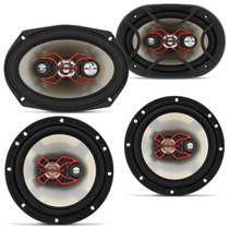 Auto Falante Bravox Facil 6 + Triaxial Quadriaxial 6x9 Kit