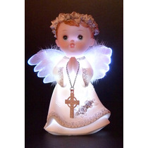 Angel Con Luz 15cm Baby Shower Bautismo Souvenir Comunion