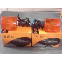Par De Pisca Honda Cbx 200/nx150/200/xlx350 Novo Trilha Univ