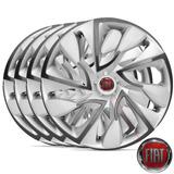 Jogo De Calota Aro 14 Ds4 Silver Fiat Siena 2010/... - 4 Pcs