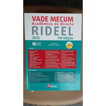Livro Vade Mecum Rideel 2012 14ª Edição Sebo Refugio !!!