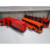 02 Caminhão Bau Florestal Tora E Onibus Truck Bitrem Scania