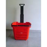 Canasto - Carro Plastico Autoservicio Supermercado Fac C