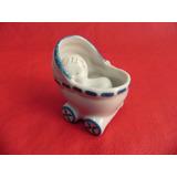 Lembrança Porcelana Mini Carrinho Bebe Chá Maternidade Azul