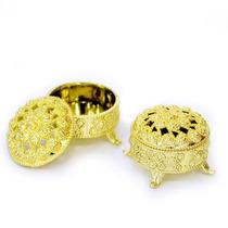 Kit 12 Mini Porta Jóias Douradas Lembrancinhas Para Festa