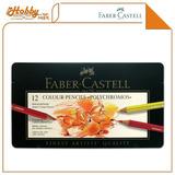 Lápis De Cor Polychromos 12 Cores Faber Castell Estojo Metál