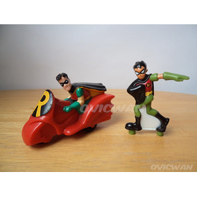 Dos Juguetes De Robin Dc Carro 1993 Y Figura Titanes Md23