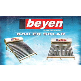 Boiler/ Solar Marca Beyen 14 Tubos 168 Litros 5.3 Personas