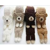Bufanda De Animalitos Tejidos Al Crochet