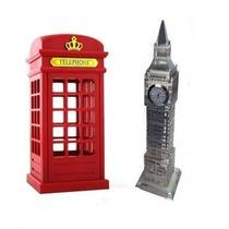 Luminaria Abajour Cabine Telefonica Londres + Big Ben 23cm