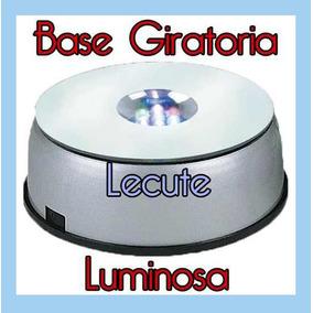 Base Giratoria Luminosa Led Multicolor Adorno Decoracion