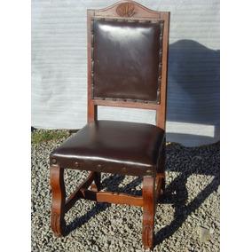 hermosa silla de mezquite y piel estilo antiguo