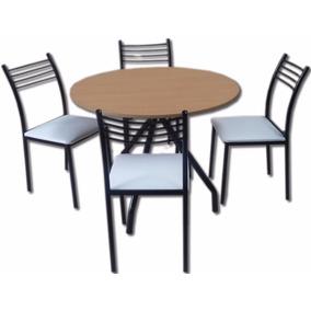 Mesa redonda con sillas comedor en mercado libre argentina for Mesa comedor economica