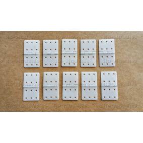 Pinned Hinge - Dobradiça Nylon Media 16x29mm Com 10 Unidades