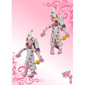 Pantera Rosa Con Pijama Peluche 43cm De Alto