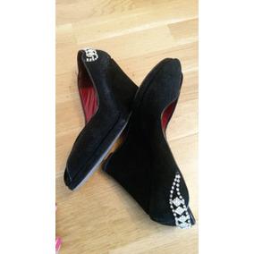 Zapatos Stilettos Taco Chino Gamuza Strass Fiesta Comoda 39