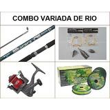 Combo Pesca Caña Reel Accesorios Para Variada De Rio N3
