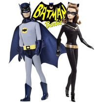Barbie Batman & Catwoman Classic Tv Serie 1966 Mattel Novo