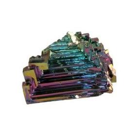 Pequeño Bismuto Crystal 0,45-0,5 Pulgadas Artificial Espécim