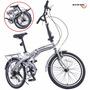 Bicicleta Plegable R20 Meses Sin Intereses 6vel Shimano