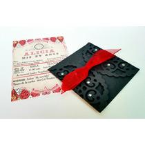 10 Invitaciones Alicia Wonderlad Vintage. Corte Blonda.