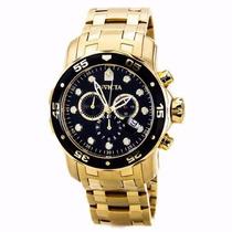Lindo Relógio Invicta Pro Diver 0072 Dourado Preto Promoção