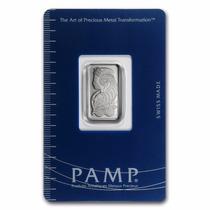 Lingote Pamp Suisse 5 Gramos Platino Puro 999.5 Certificado