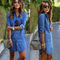 Vestido Corto Jean. Mujer. Otoño