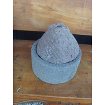 Remato Antiguo Y Original Molino De Piedra.