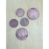 Monedas Chilenas Antiguas, 20 Centavos, 1 Peso - 5 Unidades