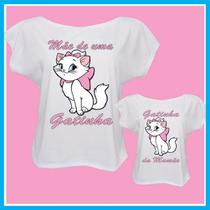 Kit Camisetas Femininas Tal Mãe Tal Filha Gatinha, Blusas