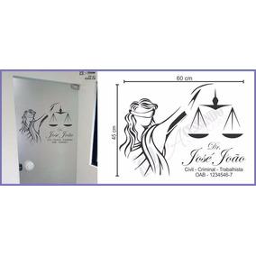 Adesivo Decorativo De Parede - Advogado - Justiça - Themis