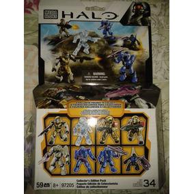 Mega Bloks Halo Muñecos Halo Ediccion De Coleccion $180