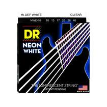 Oferta! Cordas De Guitarra Dr Neon Branca Colorida 010-046