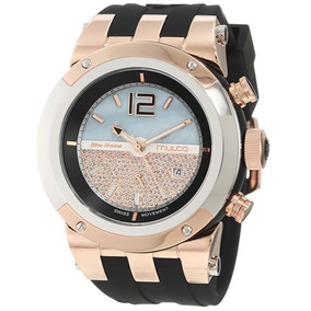 Reloj Mulco Blue Marine Acero Silicón Negro Mujer Mw51621023