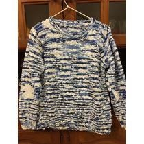 Sweater De Mujer Tejido A Mano. Talle M. Hilo De Algodón.