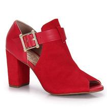 Summer Boots Conforto Feminina Beira Rio - Vermelho