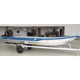 Barco De Alumínio Pety 600s + Reboque Rodoviário