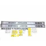 Decalque Faixa Adesiva Trator Massey Ferguson 680 4x4 Turbo