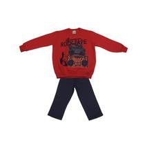 Conjunto Infantil Moleton - Tamanho 04 - Malwee