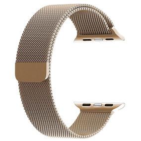 Banda Para Apple Watch De Maya De Acero Inoxidable Dorado