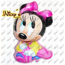 Paquete De 11 Globos Minnie Mouse Bebe Decora Tu Evento