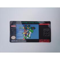Label Adesivo Cartucho Jogo Mario World Super Nintendo S-nes