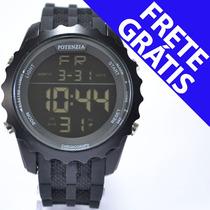 Relógio Masculino Original Potenzia Militar Digital +brinde
