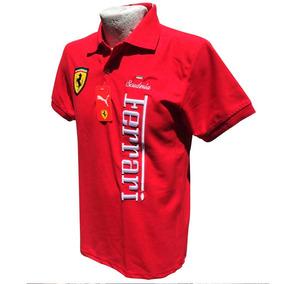 Playera Ferrari Tipo Polo - 100% Algodón 6 Modelos